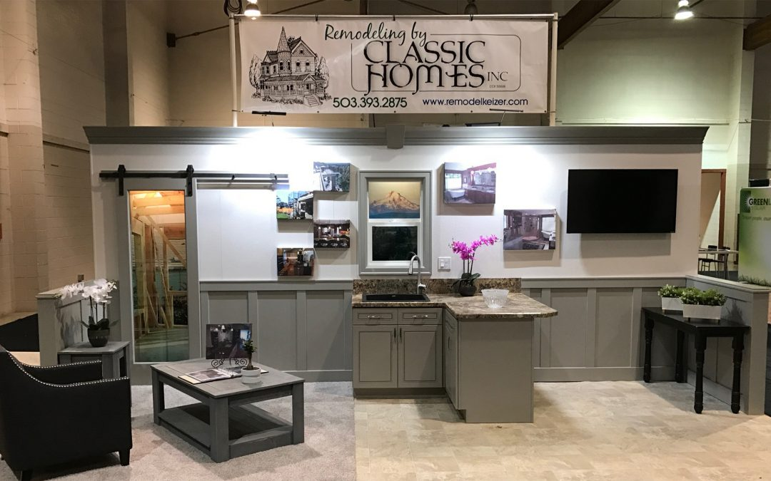 Remodeling by Classic Homes Vendor Booth at a Home Show